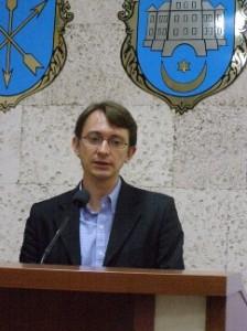 Маским Щербатюк на конференції у Хмельницьку