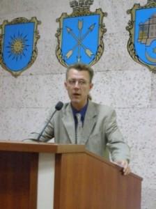 Свєт Євгеній Олександрович на конференції у Хмельницьку