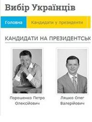 банер-посилання на сайт «Вибір Українців»