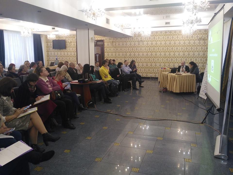 Учасники Всеукраїнського семінару-тренінгу «Переваги та недоліки впровадження інклюзивної освіти для дітей з глибокими порушеннями зору»